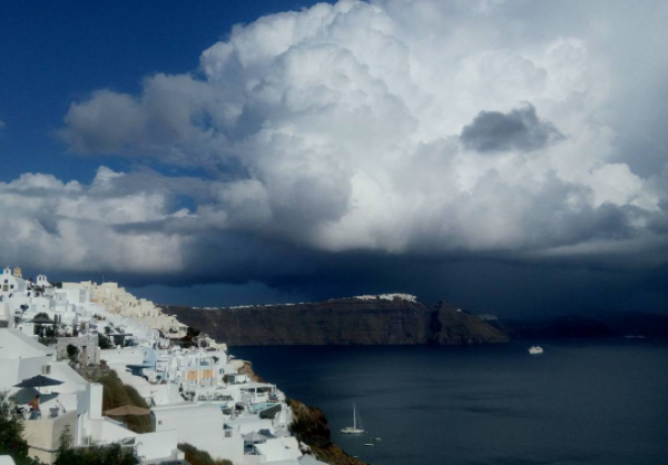 Santorini in April